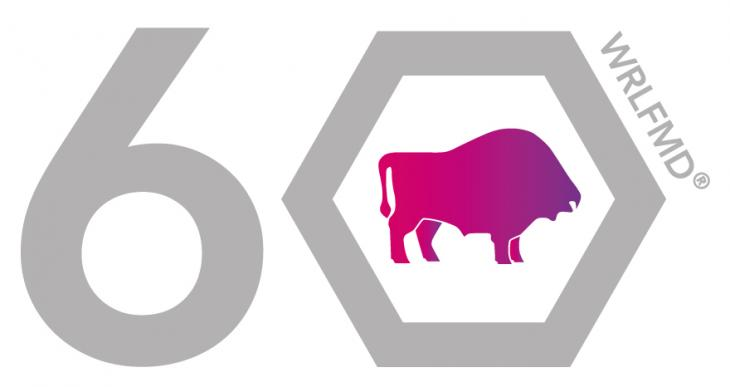 WRLFMD 60th anniversary logo